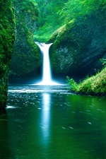 Preview iPhone wallpaper Waterfall river green