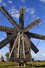 Volkostrov의 풍차, 오네가 호수, 카렐리야