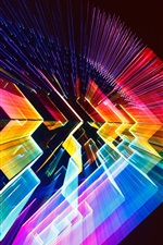 Preview iPhone wallpaper 3D colorful light space