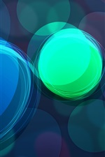 Preview iPhone wallpaper Abstract rainbow circles
