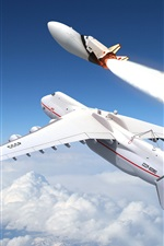 Preview iPhone wallpaper Air-launched space shuttle