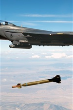 Preview iPhone wallpaper Aircraft dropped the missile