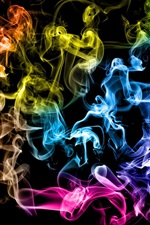 Preview iPhone wallpaper Colored smoke rings