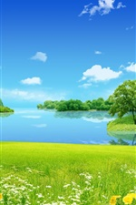 Preview iPhone wallpaper Dream of summer scenery