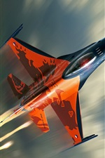 Preview iPhone wallpaper F-16 fighter flying cloud