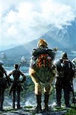 Final Fantasy cloud mountain waterfall