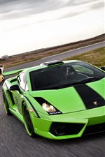 Preview iPhone wallpaper Green and yellow Lamborghini
