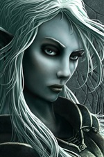 Preview iPhone wallpaper Grey Elf Girl