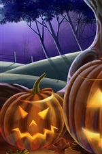 Preview iPhone wallpaper Happy Halloween