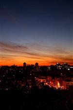 밤 하늘 도시