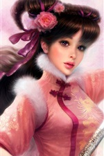 Preview iPhone wallpaper Oriental sword girl