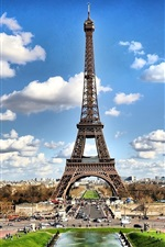 Preview iPhone wallpaper Paris Eiffel Tower