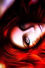 Red fantasia menina do cabelo