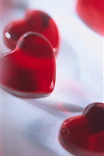 Preview iPhone wallpaper Red love heart-shaped candy