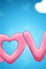 Preview iPhone wallpaper Sweet love