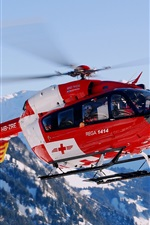 Preview iPhone wallpaper Switzerland mountain helicopter