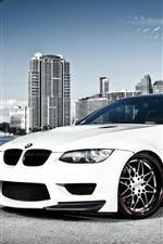 화이트 BMW 자동차