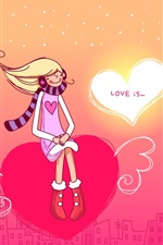 미리보기 iPhone 배경 화면 소년과 소녀의 사랑의 마음