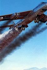 Preview iPhone wallpaper Aircraft exhaust smoke