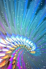 Preview iPhone wallpaper Beautiful abstract flight line