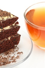 Preview iPhone wallpaper Breakfast delicious black tea and cake