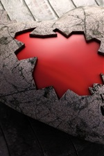 Preview iPhone wallpaper Broken stone heart