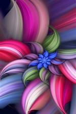 Preview iPhone wallpaper Colorful abstract beautiful flower