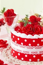 Preview iPhone wallpaper Festive cake