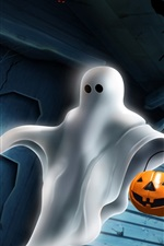 Preview iPhone wallpaper Halloween White Ghost