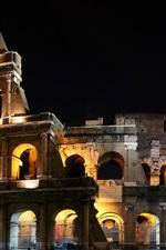 iPhone fondos de pantalla Italia Roma Coliseo noche