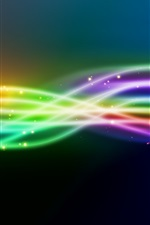 Preview iPhone wallpaper Line light rainbow