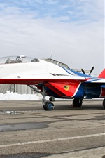 Preview iPhone wallpaper Mig-29 martins airport