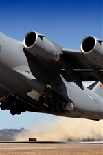 Preview iPhone wallpaper Military aircraft takeoff transport