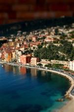 Preview iPhone wallpaper Port miniature landscape photography