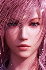 Menina do cabelo roxo em Final Fantasy XIII