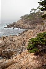 Preview iPhone wallpaper Sea nature landscape rocks