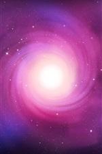 Espiral de luz da estrela