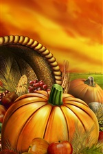 Preview iPhone wallpaper Thanksgiving food