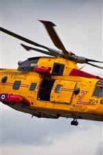 Preview iPhone wallpaper Yellow helicopter rescue flight Canada