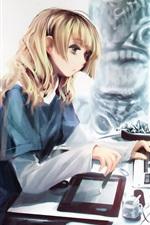 컴퓨터와 애니메이션 소녀