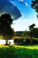 미리보기 iPhone 배경 화면 녹색 호수의 아름다운 풍경