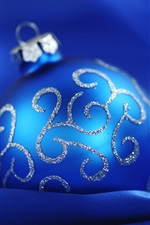 Preview iPhone wallpaper Blue Christmas ball blue background