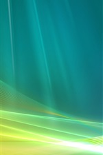 Preview iPhone wallpaper Blue and green abstract space curve