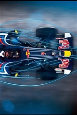 Preview iPhone wallpaper Blue light Red Bull F1 car
