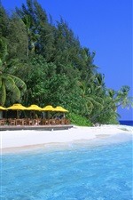 Preview iPhone wallpaper Blue water beach