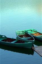 Preview iPhone wallpaper Boat lake bridge