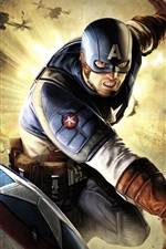 Preview iPhone wallpaper Captain America: Super Soldier