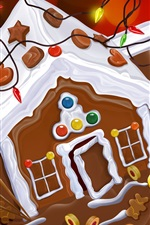Preview iPhone wallpaper Christmas chocolate cake