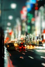 Preview iPhone wallpaper City night city road vehicles