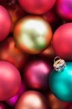 Preview iPhone wallpaper Colorful Christmas balls